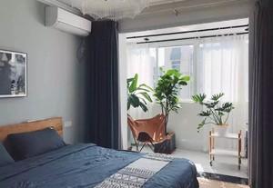 85平方房子现代简约风格小卧室阳台吊顶装修效果图