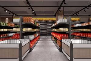60平超市設計現代歐式風格裝修效果圖
