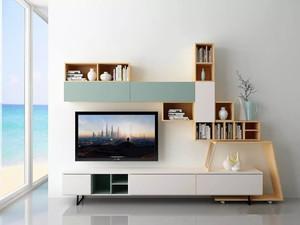 126平米客廳電視背景墻柜裝修效果圖