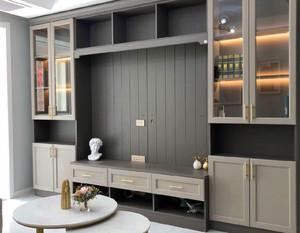 128平米客廳電視背景墻柜裝修效果圖