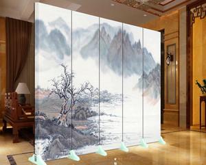 126平米客厅山水画背景墙装修效果图