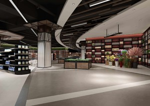 400平米超市現代創意風格裝修效果圖