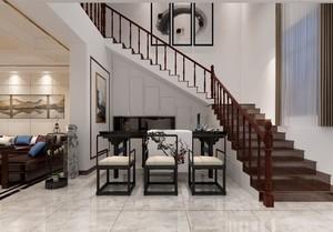 300平米简欧式风格别墅楼梯间吊顶装修效果图