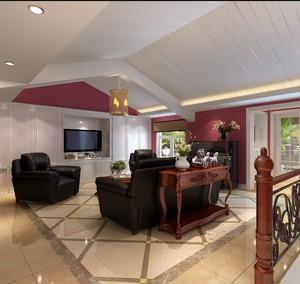 80平方中式古典風格小別墅大廳吊頂裝修效果圖