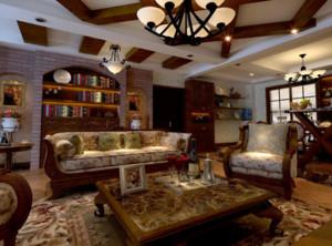 88平米两居室客厅背景墙挂件装修效果图