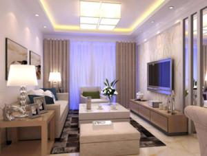 110平米大户型客厅背景墙射灯装修效果图