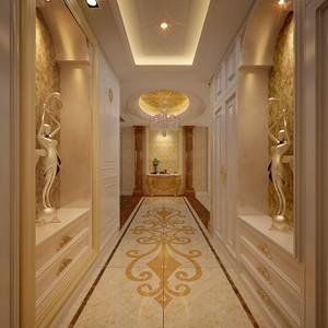 200平米歐式古典風格別墅大門口吊頂裝修效果圖
