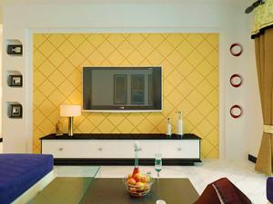 125平米客厅石膏板背景墙装修效果图