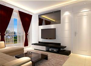 128平米客厅石膏板背景墙装修效果图