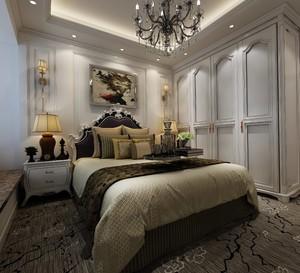 200平米跃层美式复古风格房间橱柜设计装修效果图