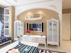 120平米客厅石膏线背景墙装修效果图