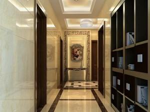 200平欧式风格房子走廊橱柜设计装修效果图