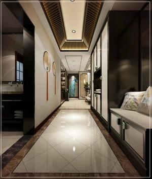 90平復古中式風格房子走廊櫥柜設計裝修效果圖