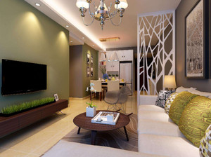 106平米跃层客厅沙发隔断装修效果图