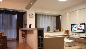 126平米房子客厅沙发隔断装修效果图
