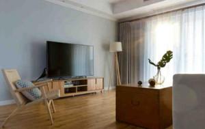 120平方别墅客厅沙发窗帘装修效果图