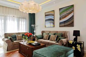 189平米跃层客厅沙发窗帘装修效果图