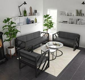 99平方房子客厅卡座沙发装修效果图