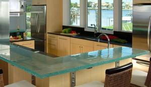 100平米跃层玻璃台面橱柜装修效果图
