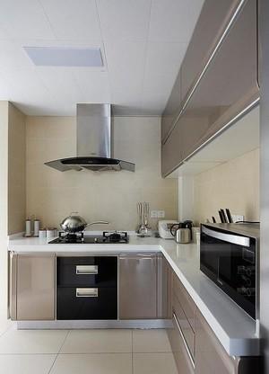 89平米房子香槟色橱柜门装修效果图