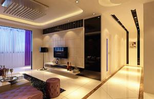 130平米挑空客厅电视背景墙装修效果图