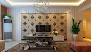 118平米挑空客厅电视背景墙装修效果图