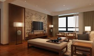 別墅客廳玻璃電視背景墻裝修效果圖