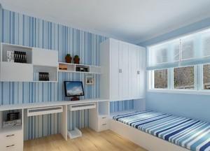9平臥室榻榻米地中海風格收納架衣柜裝修效果圖