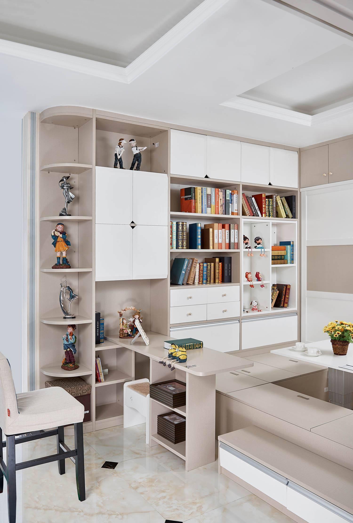 儿童榻榻米书房15平米现代风格装修效果图