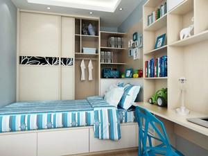 男孩卧室榻榻米16平米现代风格装修效果图