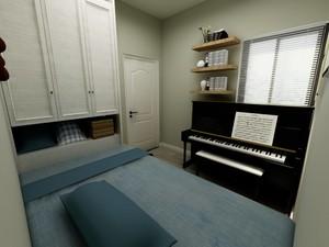 男孩卧室榻榻米17平米现代风格装修效果图