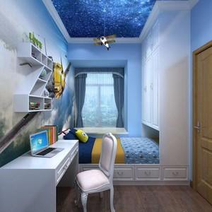 男孩卧室榻榻米海洋主题装修效果图