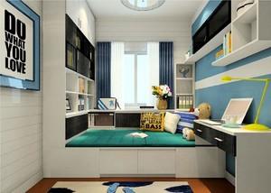女儿房间榻榻米14平米现代风格装修效果图