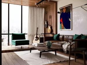 180平米大戶型復古中式陽臺榻榻米窗簾裝修效果圖