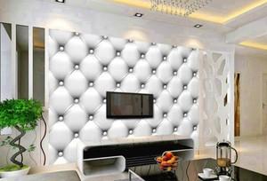 70平歐式風格客廳硬包電視背景墻圖片