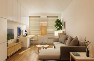 现代风格小户型50平房屋客厅装修效果图
