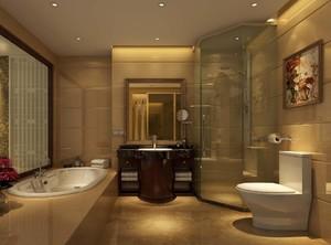 168平米大戶型歐式風格房屋衛生間裝修效果圖