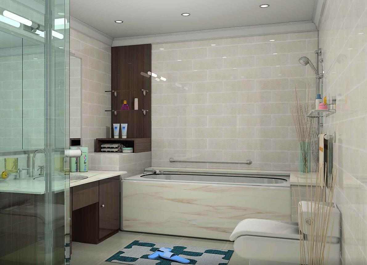 128平米大户型北欧风格房屋卫生间装修效果图