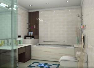 128平米大戶型北歐風格房屋衛生間裝修效果圖
