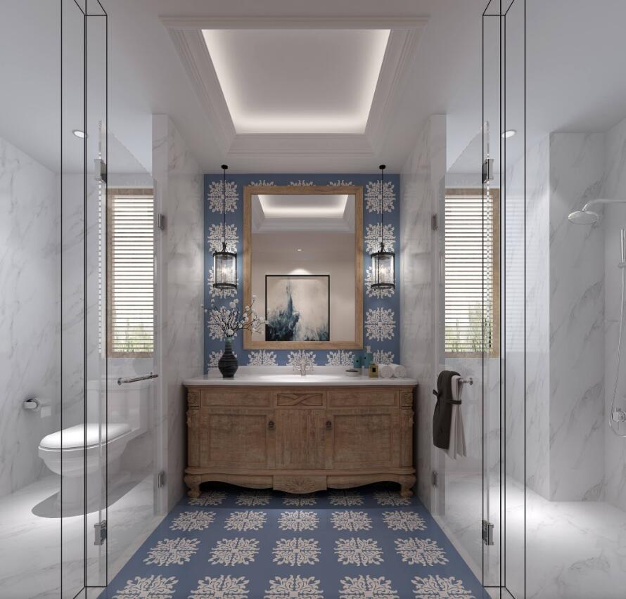 116平米大户型简欧风格房屋卫生间装修效果图