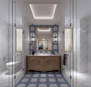 116平米大戶型簡歐風格房屋衛生間裝修效果圖