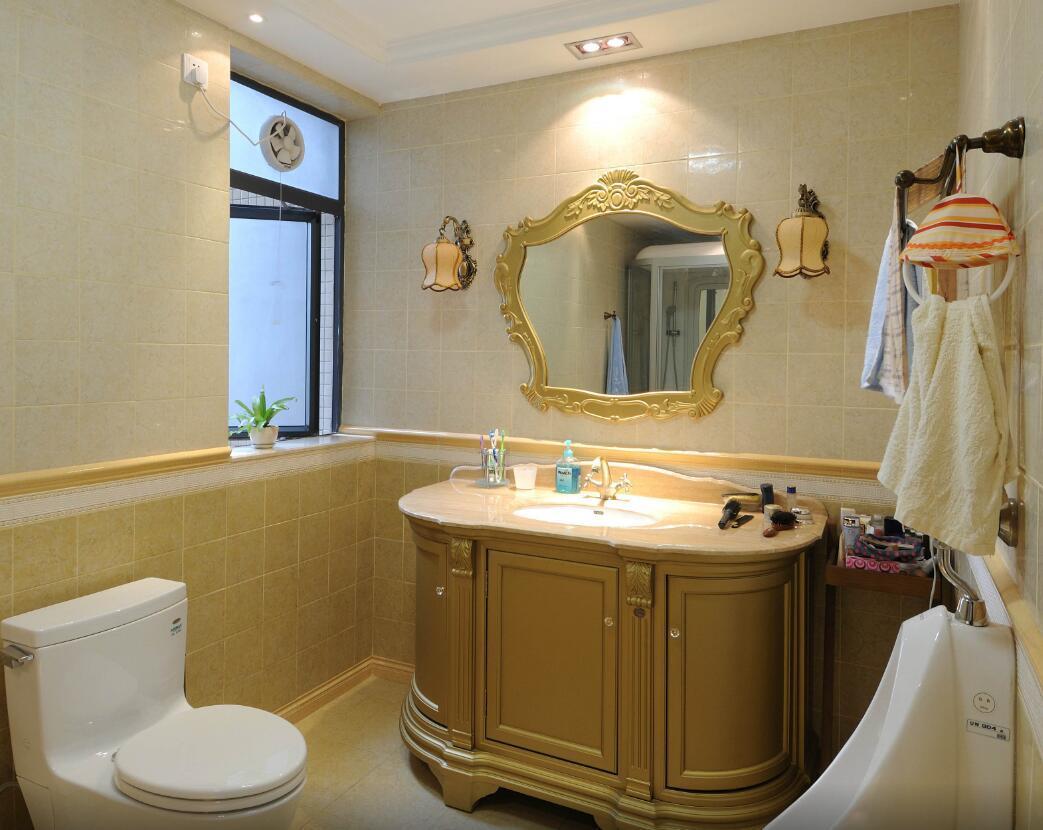 130平米三居室欧式风格房屋卫生间装修效果图