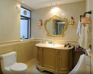 130平米三居室歐式風格房屋衛生間裝修效果圖