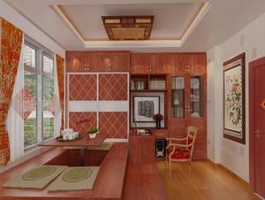 3層別墅古典整體榻榻米臥室裝修效果圖