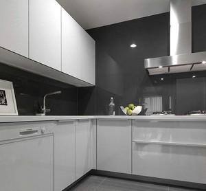 90平的房子白色玻璃櫥柜裝修效果圖