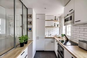 88方小三房白色玻璃櫥柜裝修效果圖