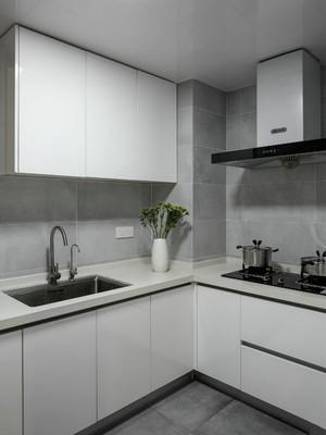 40平方復式白色玻璃櫥柜裝修效果圖