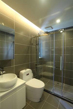 89平米房子簡單中式風格淋浴隔斷裝修效果圖