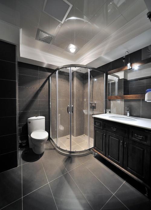 240平跃层现代创意风格淋浴隔断装修效果图