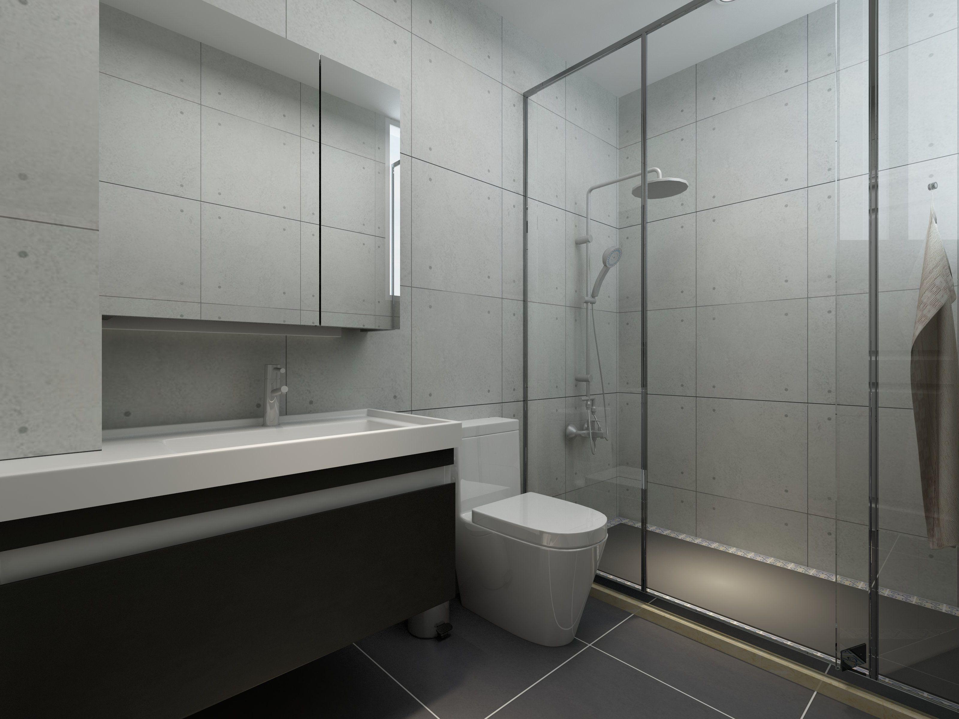 150平米别墅北欧简约风格淋浴隔断装修效果图